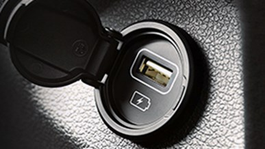 USB uttag i baksätet