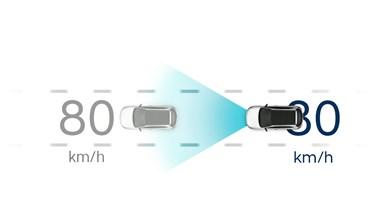 Adaptiv farthållare med Stop&Go-funktion (SCC med S&G)
