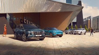 Se Hyundais urval av elektriska bilar
