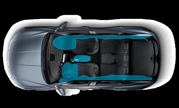 Förbättrad säkerhet med 7 airbags