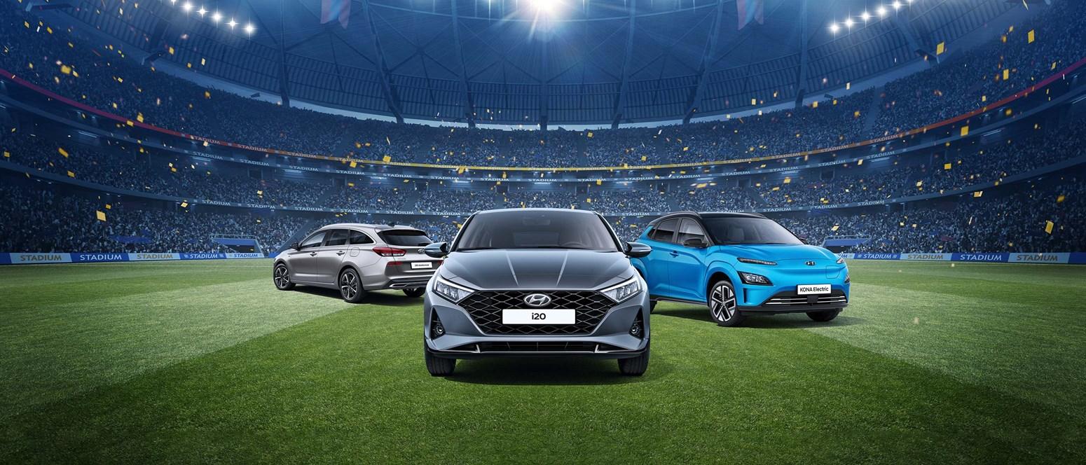 Ge dig in i matchen med en ny Hyundai!